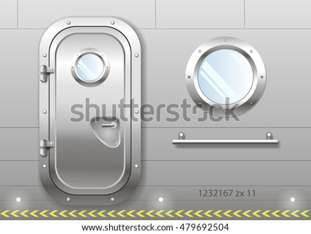 the door and window of the ship