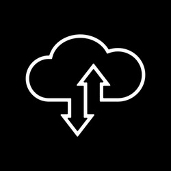 The download and upload to cloud icon.symbol. Flat Vector illustration