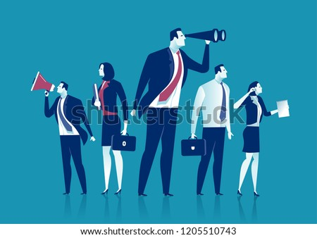 The Dream Team. Group of business persons working. Business vector concept illustration