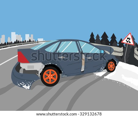 the driver lost control on a