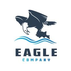 the eagle logo design preys on fish