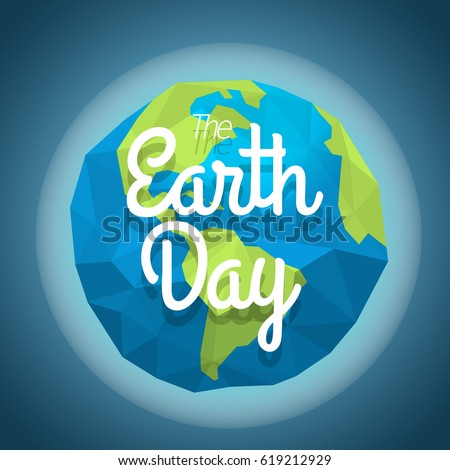 the earth day concept vector