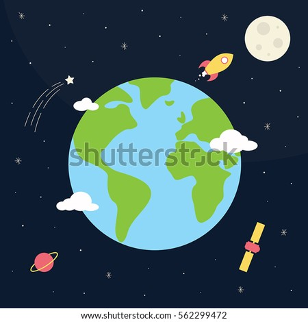 the earth from space with the