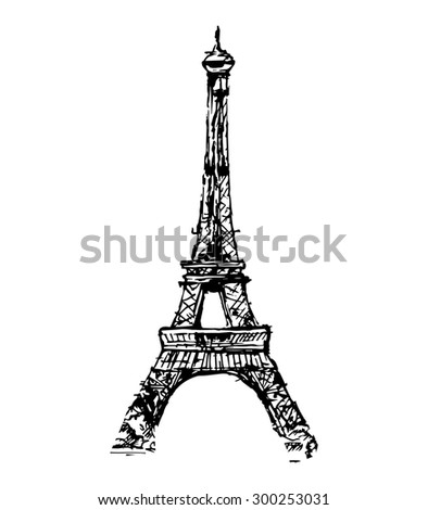 the eiffel tower  vector