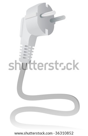 The Electric plug. A vector. Without mesh.
