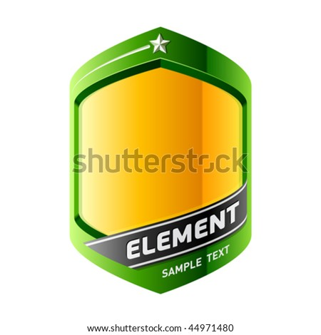 The element of a design. Vector. Insert your information.
