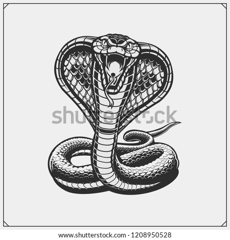 the emblem with king cobra for