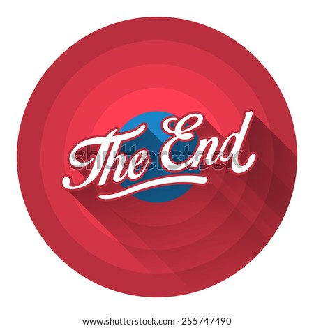the end flat style icon