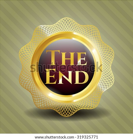 The End golden badge