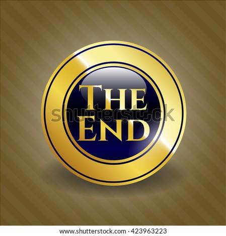 The End golden badge or emblem