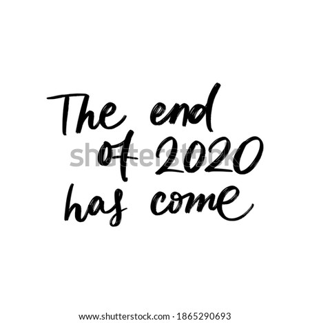 the end of 2020 has come