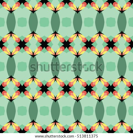 The endless texture.Vector ornaments. Abstract geometric illustration. Pattern for website, corporate style, party invitation, wallpaper. #513811375