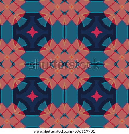 The endless texture.Vector ornaments. Abstract geometric illustration. Pattern for website, corporate style, party invitation, wallpaper. #596119901