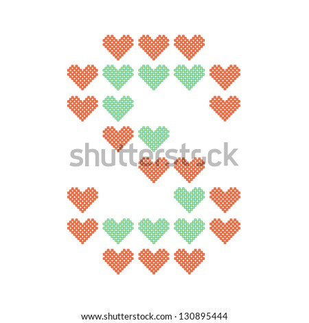 S Alphabet In Heart Images The English alphabet in many