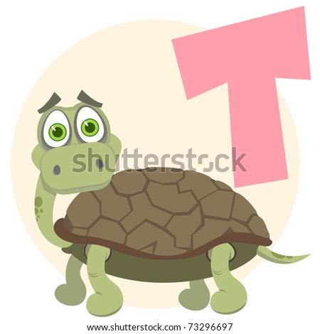 The English alphabet. Turtle