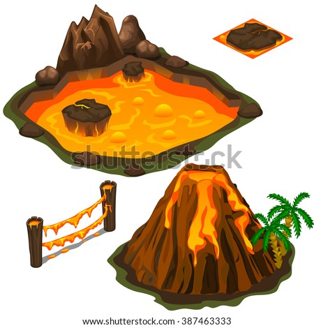 the eruption of a volcano on a