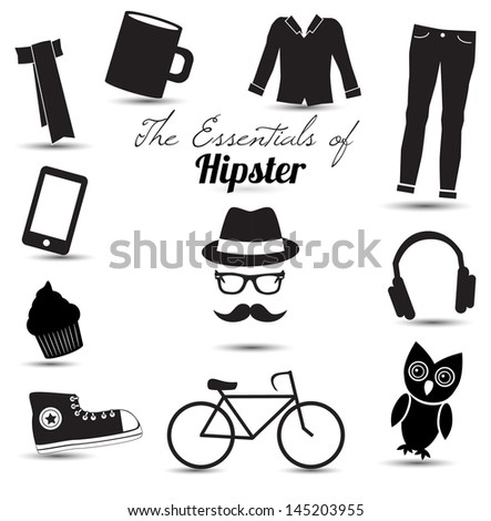 The essentials of HIPSTER. Vector illustration.