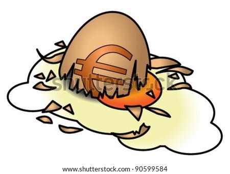 The Euro egg is broken.