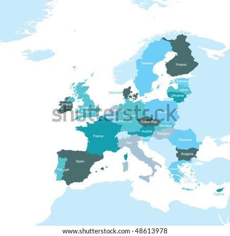 The European Union map Stockfoto ©