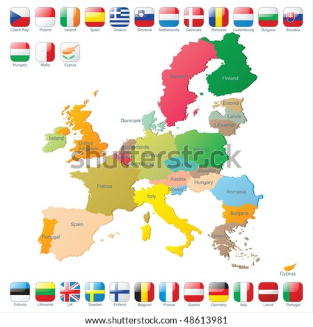 the european union map with