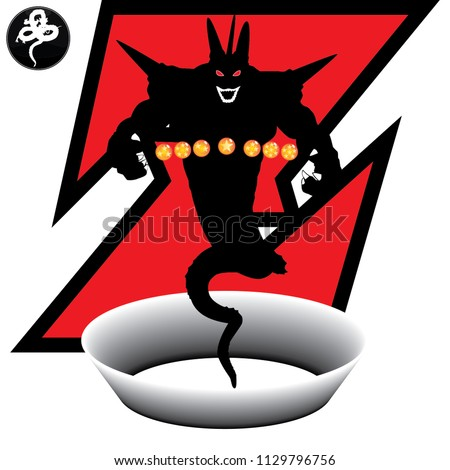 Stock Photo the evil black dragon