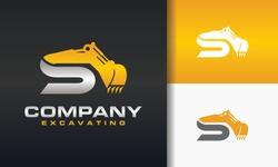 the excavator letter S logo