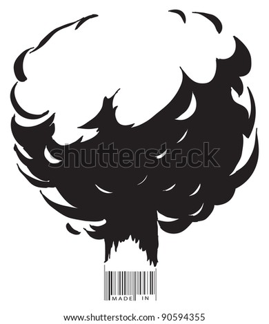 the explosion and the bar code
