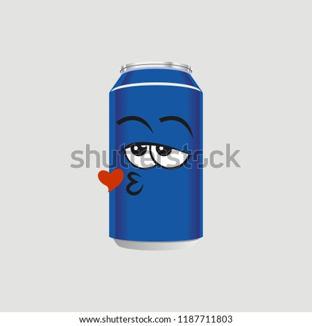 the expression of a blue can