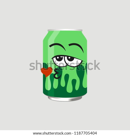 the expression of a green can
