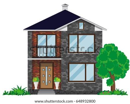 the facade of a brick house