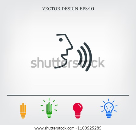 The face of a talking person, vector icon.
