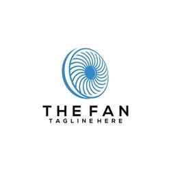 The fan logo concept vector. Fan logo template