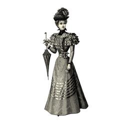 The fashion Of 1897- Vintage engraved illustration -