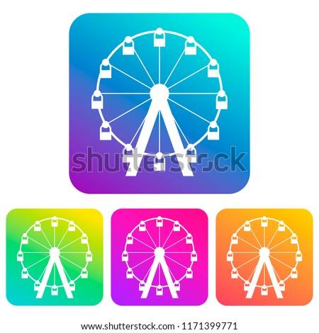 the ferris wheel icon is white