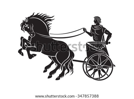 the figure shows a chariot with