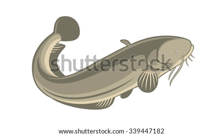 the figure shows the fish catfish Сток-фото ©