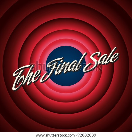 The final sale poster. Vector illustation