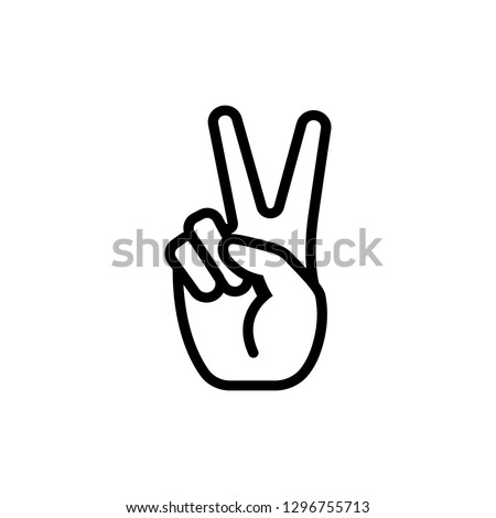 The fingers or hand signals mean peace