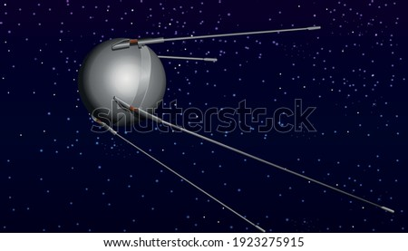 The first artificial satellite of the earth