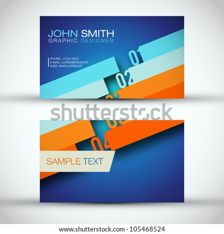 The First - Business Card Set | EPS10 Vector Design - stock vector