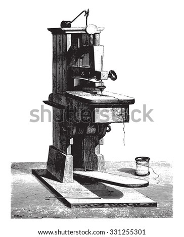 The first sewing machine invented by thimonnier given at for Arts and crafts sewing machine