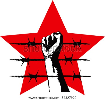The fist and barbed wire