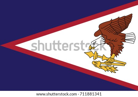 The flag of American Samoa