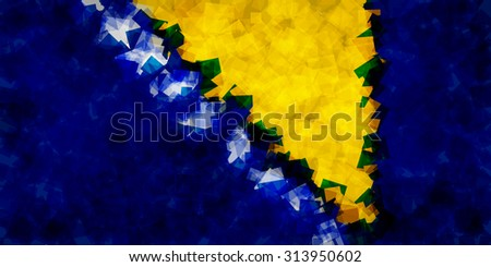 the flag of bosnia and