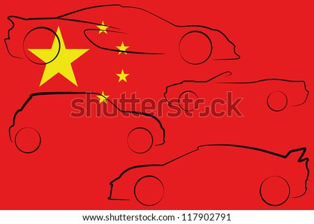 the flag of china with the