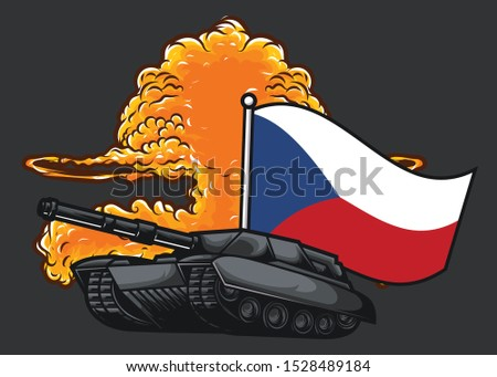the flag of czech republic with