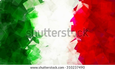 the flag of italy in vector