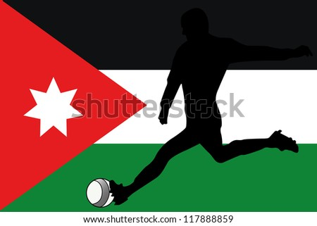 the flag of jordan with a