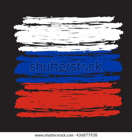 the flag of russia  conceptual