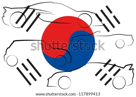 the flag of south korea with